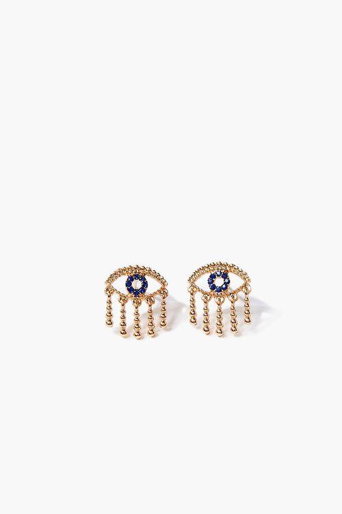 Rhinestone Eye Stud Earrings, image 1
