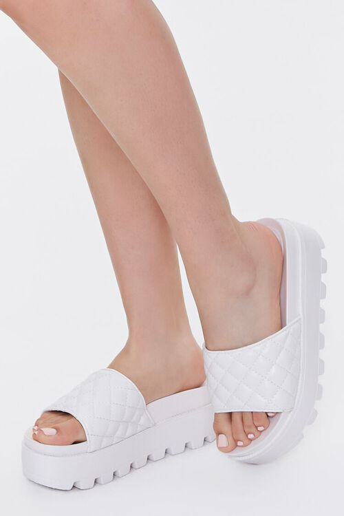 Quilted Slip-On Wedges, image 1