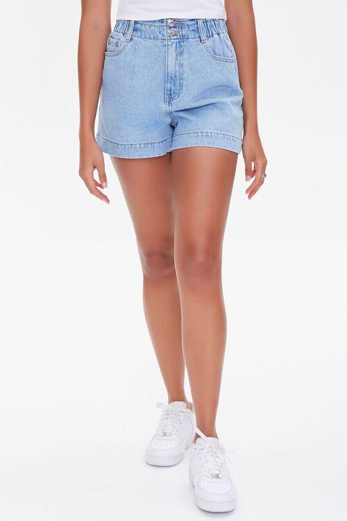 Denim Paperbag Shorts, image 2