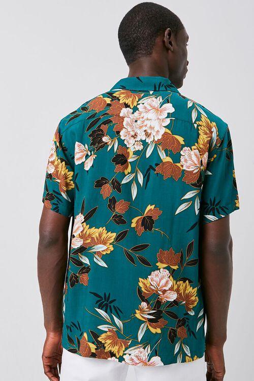 TEAL/MULTI Floral Print Cuban Shirt, image 3