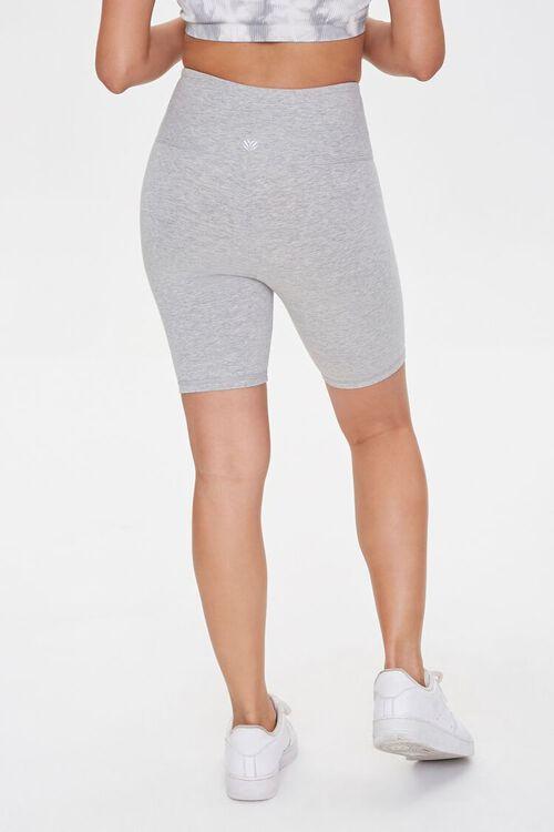 Active Heathered Biker Shorts, image 4