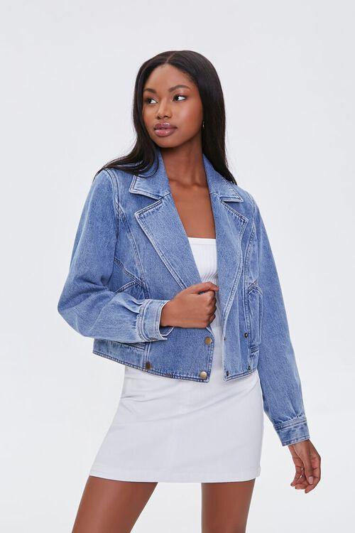 Double-Breasted Denim Jacket, image 1