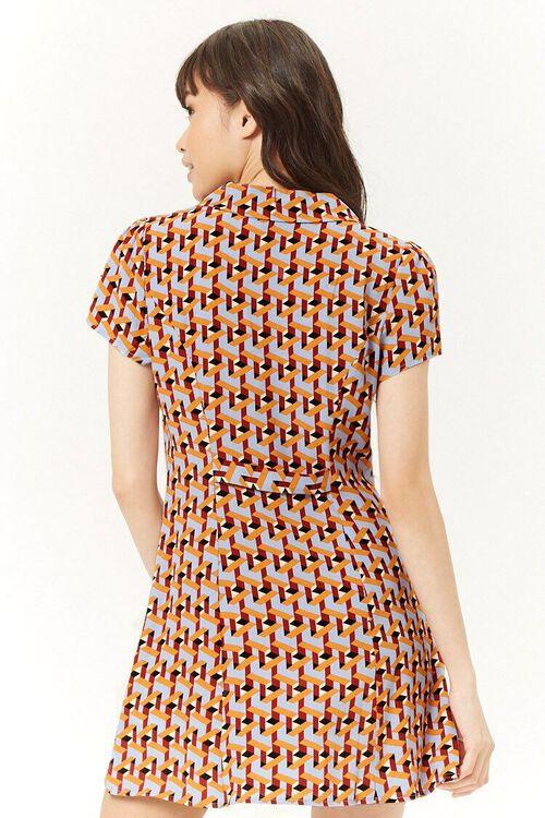 Multicolor Geo Print Mini Dress, image 3