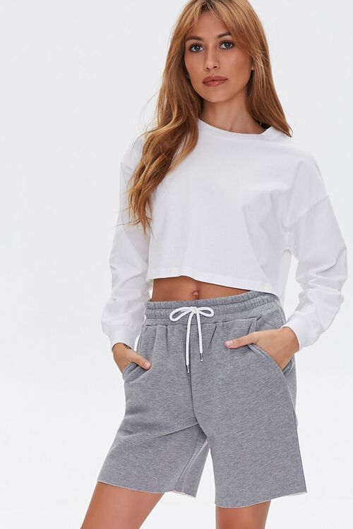 Basic Raw-Cut Drawstring Shorts, image 1