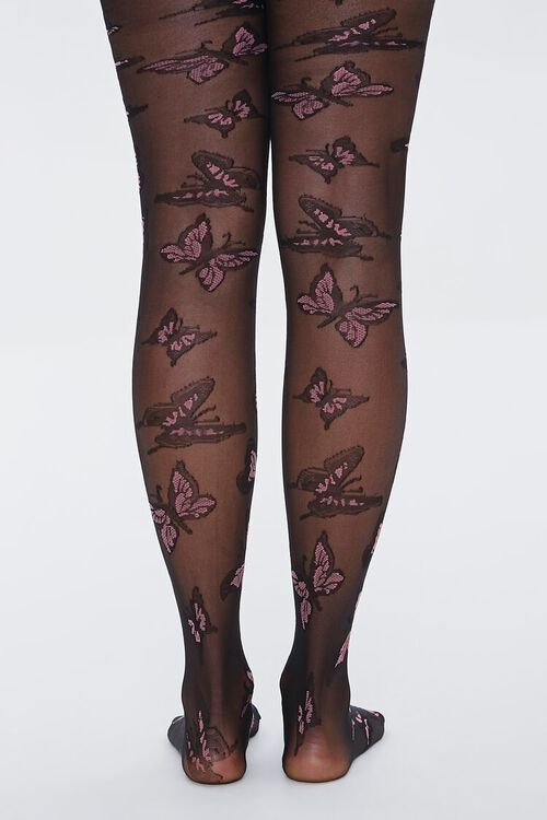 Sheer Butterfly Tights, image 3