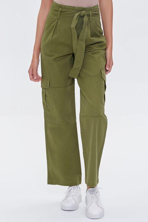 Tie-Belt Cargo Pants, image 2