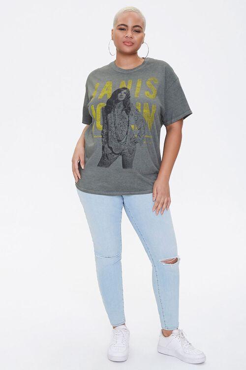 OLIVE/MULTI Plus Size Janis Joplin Graphic Tee, image 4