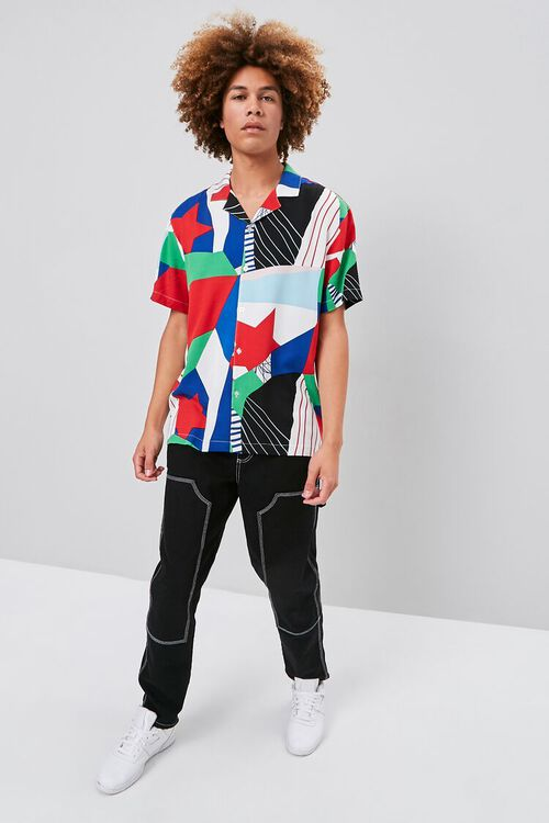 GREY/MULTI Classic Fit Patternblock Shirt, image 4