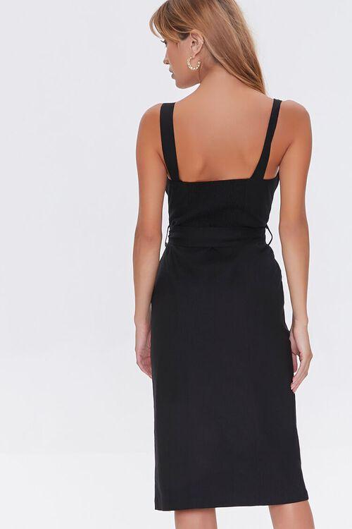 Linen-Blend Button-Front Dress, image 4