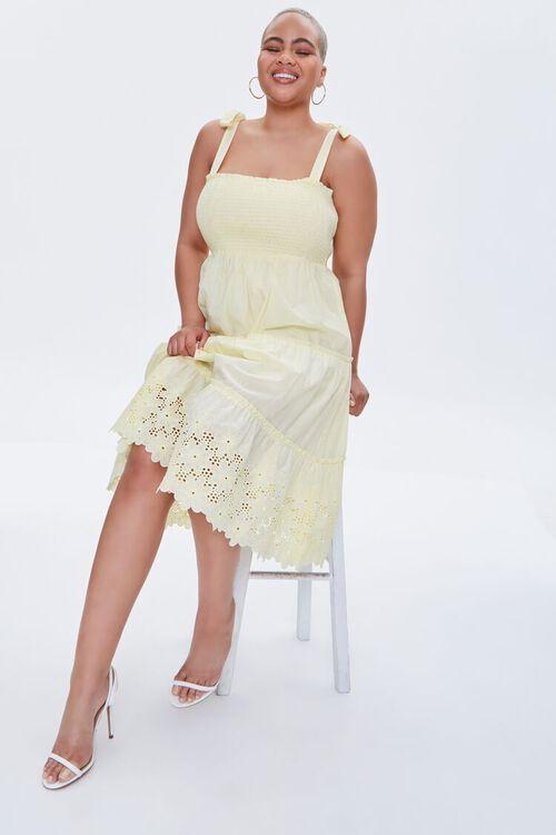 Plus Size Smocked Tie-Strap Dress, image 7