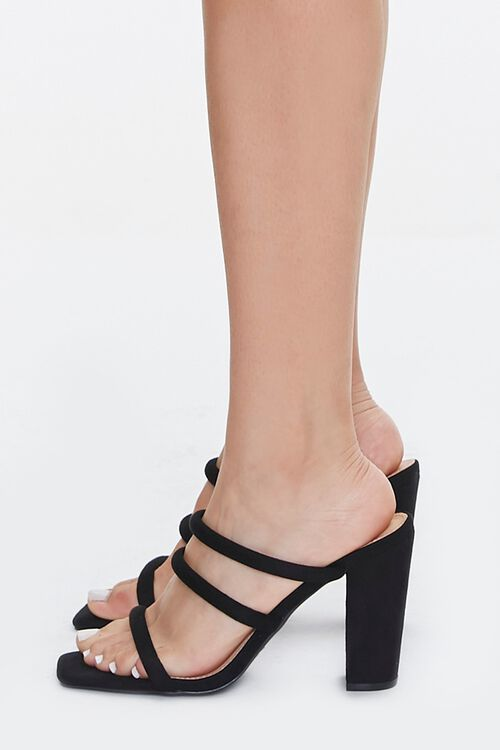 Strappy Square-Toe Block Heels, image 2
