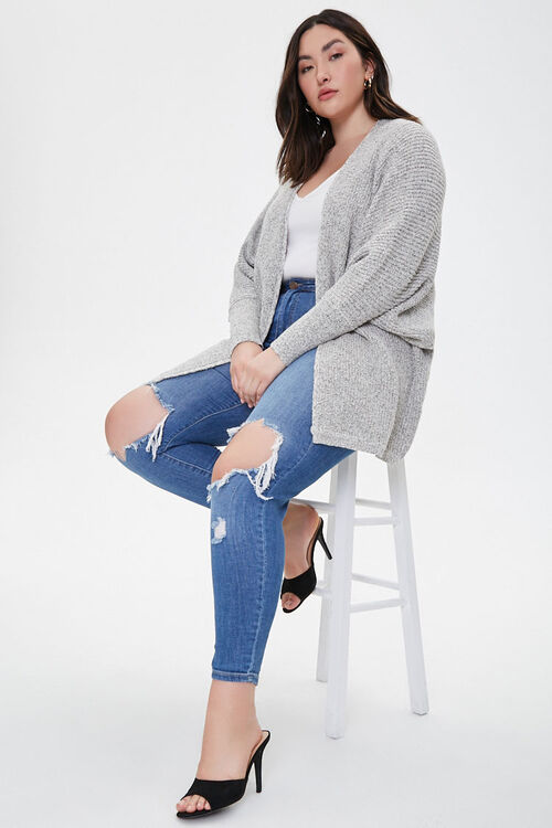 Plus Size Draped Open-Front Cardigan, image 4