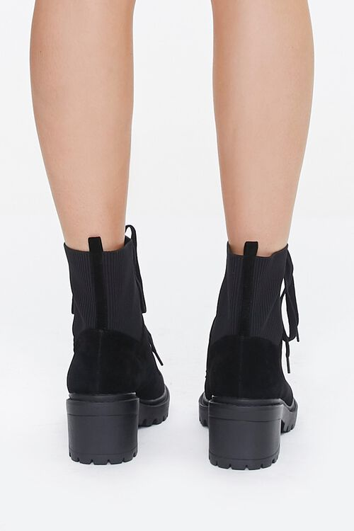 Lace-Up Sock Ankle Boots, image 3