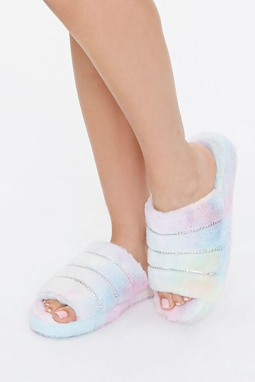Plush Tie-Dye Slippers, image 1