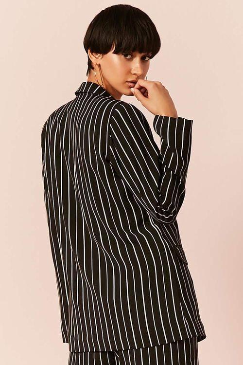 BLACK/IVORY Striped Button-Front Blazer, image 4