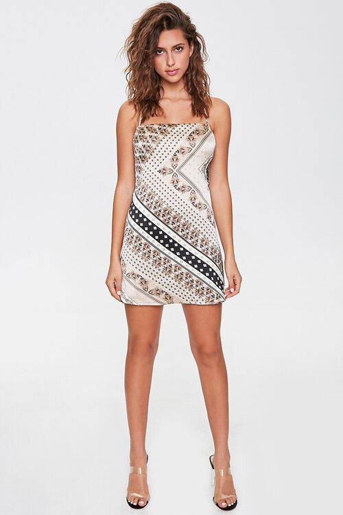 Ornate Print Mini Cami Dress, image 4
