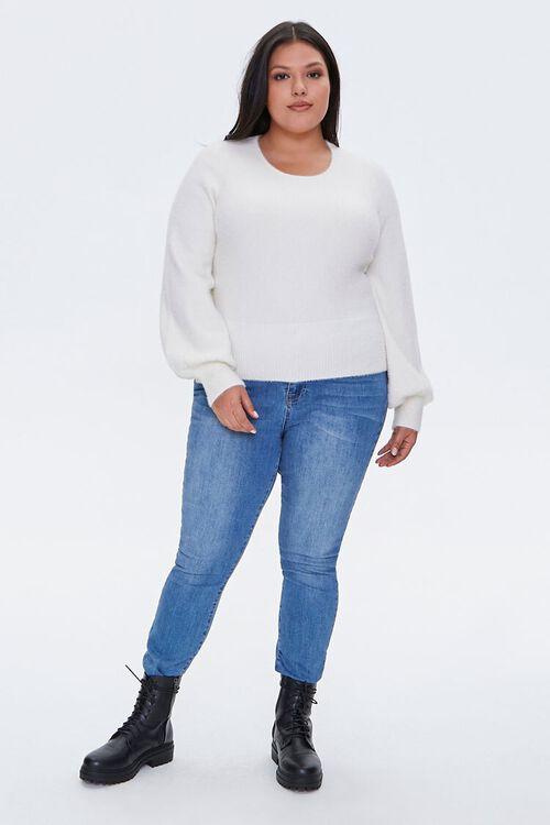 Plus Size Fuzzy Knit Sweater, image 4
