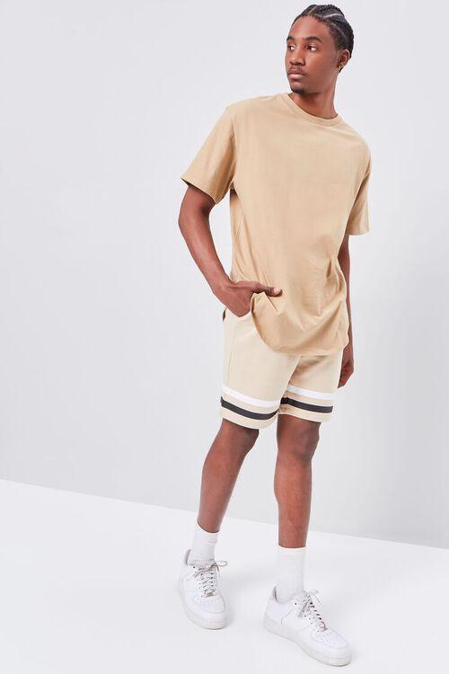 Striped-Trim Drawstring Shorts, image 5