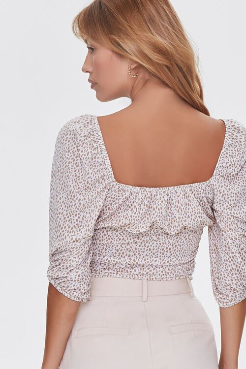 Spotted Print Ruched Top, image 3