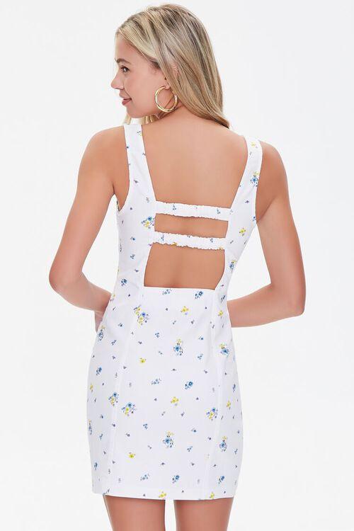 Ditsy Floral Print Cutout Dress, image 3