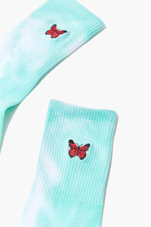 Tie-Dye Butterfly Crew Socks, image 3