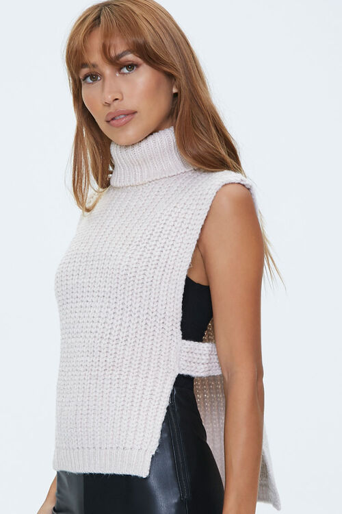 Turtleneck Sweater-Knit Top, image 2