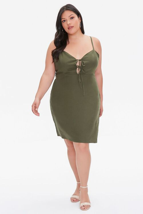 Plus Size Linen-Blend Mini Dress, image 4