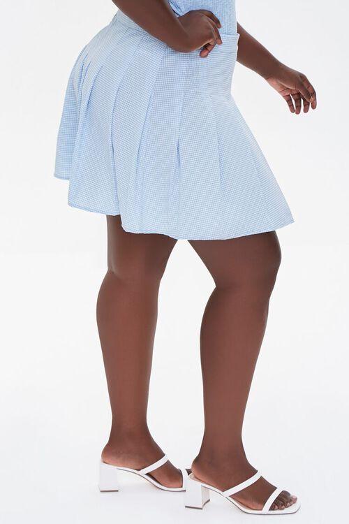 Plus Size Plaid Mini Skirt, image 3