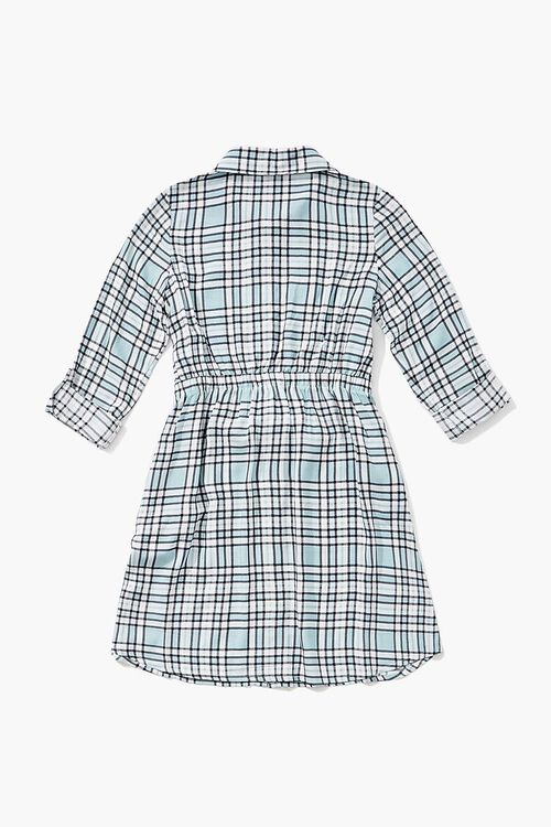 BLUE/MULTI Girls Plaid Shirt Dress (Kids), image 2