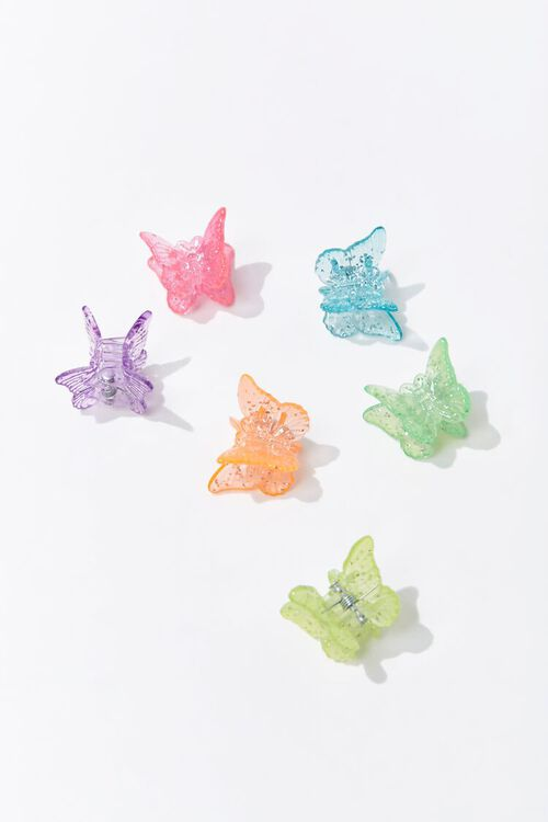 PINK/MULTI Butterfly Claw Clips, image 4