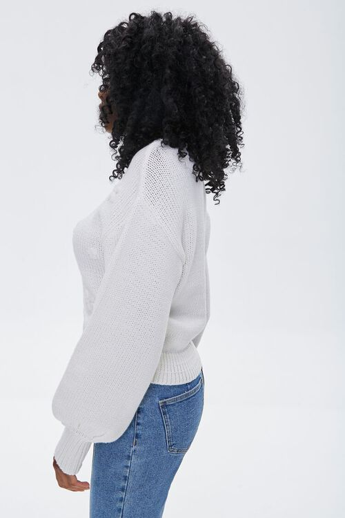 Floral Open-Knit Sweater, image 2