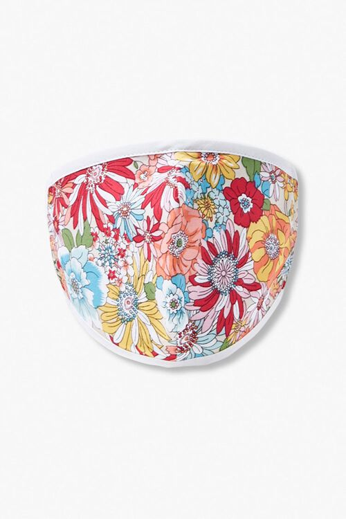 Girls Floral Print Face Mask (Kids), image 1