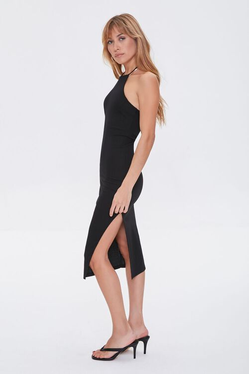 Ribbed Knit Halter Dress, image 3