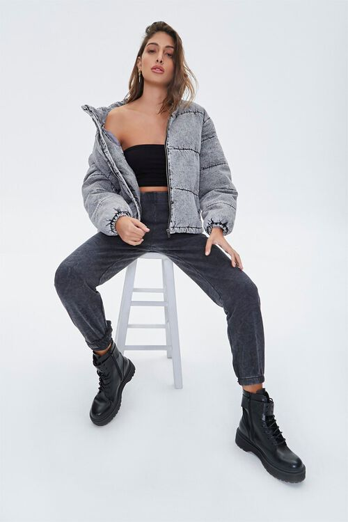 Denim Puffer Jacket, image 5