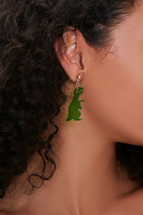 Dinosaur Pendant Drop Earrings, image 1