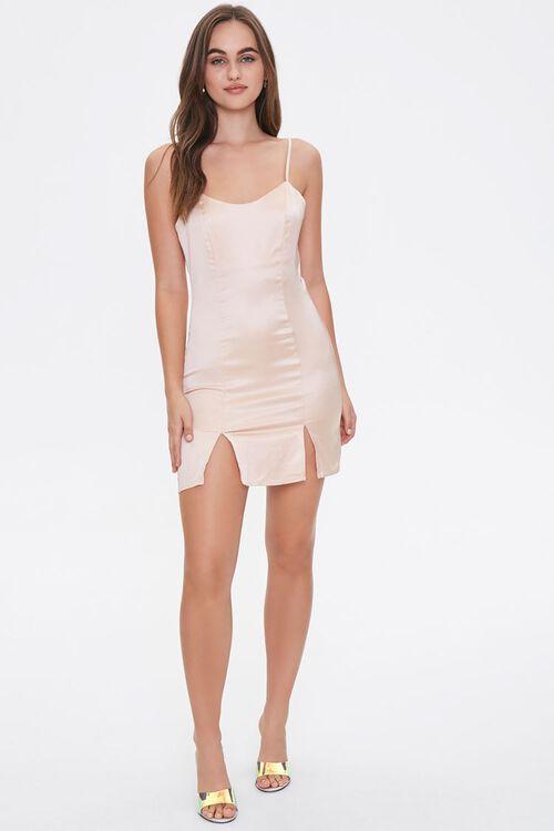 Satin M-Slit Mini Dress, image 4