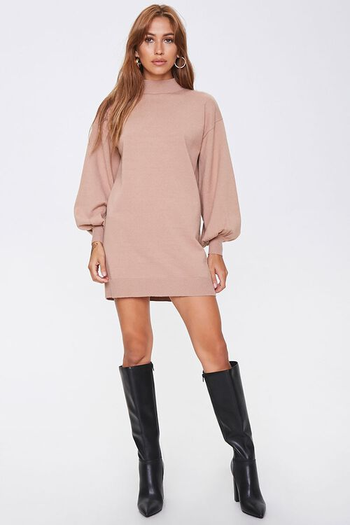 Mock Neck Sweater Dress, image 4
