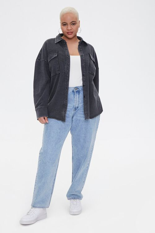 Plus Size Chest-Pocket Jacket, image 4