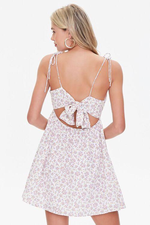 Floral Print Tie-Back Mini Dress, image 3