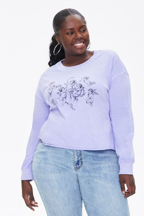 Plus Size Angel Graphic Top, image 1