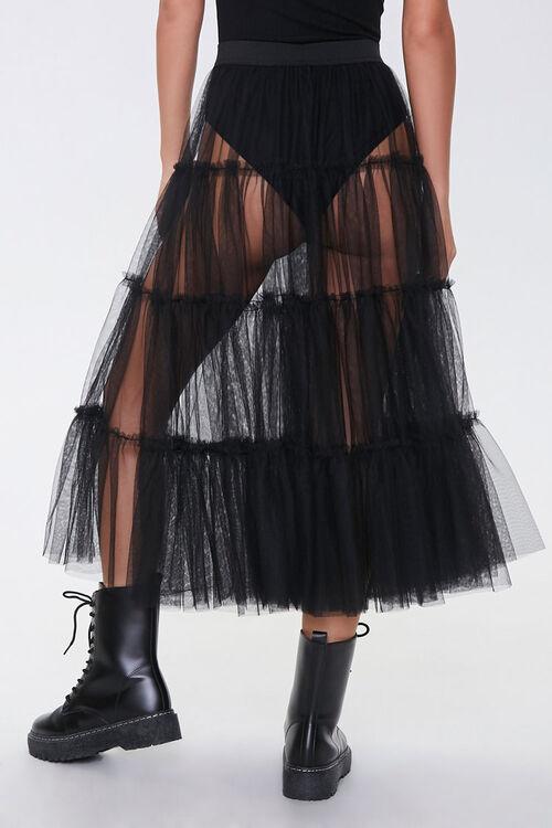 Sheer Tiered Midi Skirt, image 4