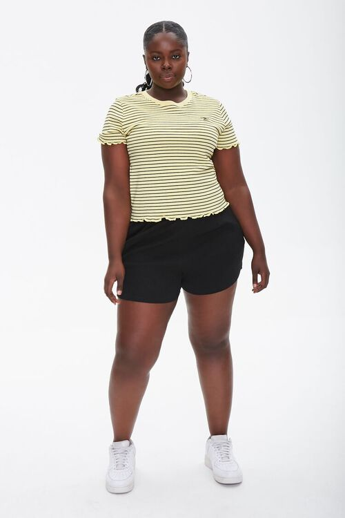 Plus Size Pinstriped Bee Tee, image 4
