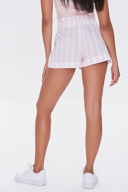 Striped Drawstring Paperbag Shorts, image 4