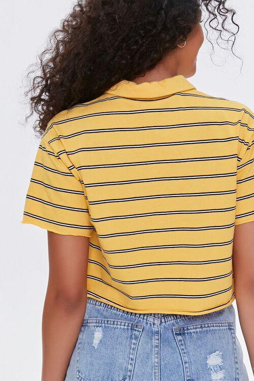 MUSTARD/MULTI Striped Polo Shirt, image 3