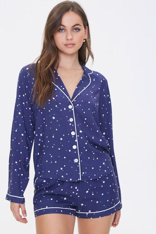 NAVY/WHITE Star Print Pajama Set, image 1