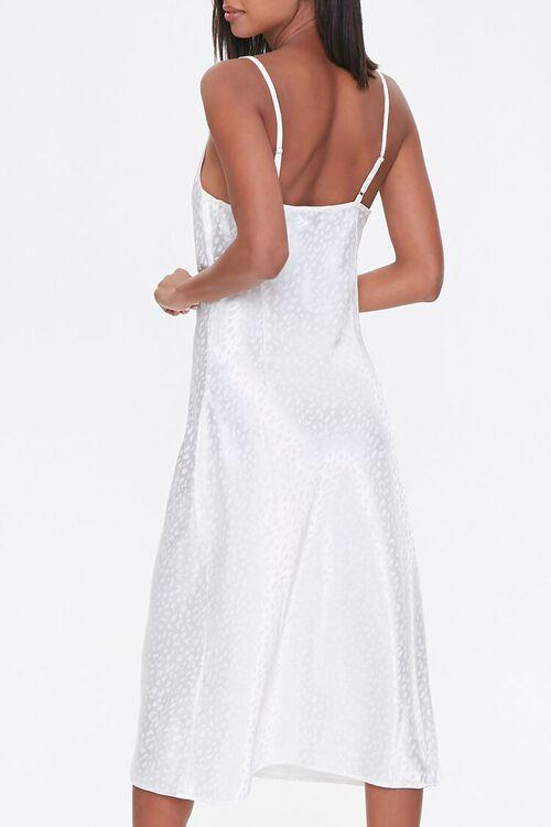Satin Leopard Print Slip Dress, image 3