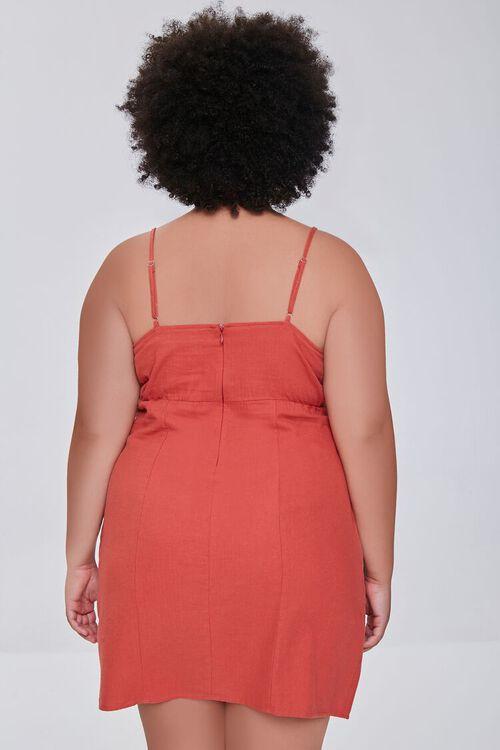 RUST Plus Size Sheath Cami Mini Dress, image 3