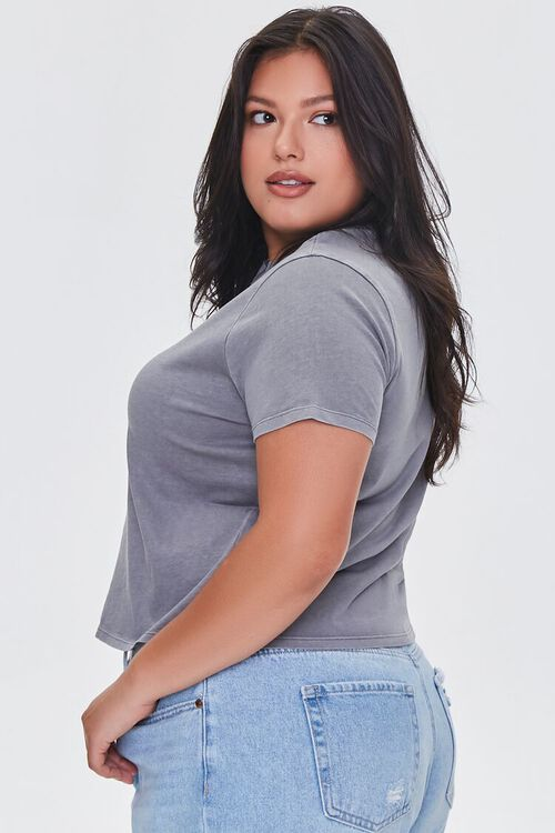 Plus Size Mineral Wash Tee, image 2