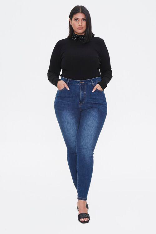 Plus Size Studded Mock Neck Sweater, image 4