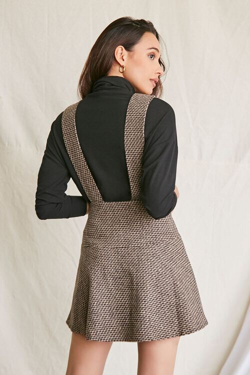BROWN/MULTI Double-Breasted Mini Pinafore Dress, image 3